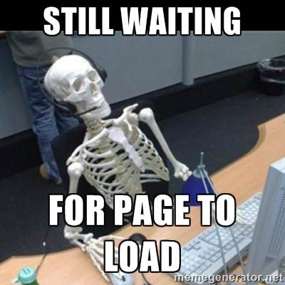 Skeleton waiting for page to load