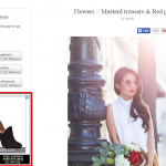 Retargeting ad on a fashion blog.