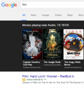 google concept matching with film