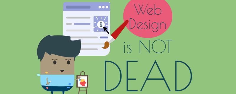 web designer painting web page