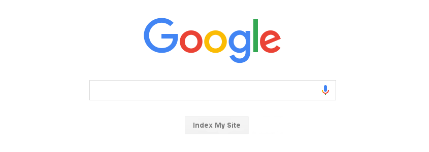 google search box with index my site button