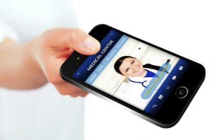 Medical Center Website on Mobile