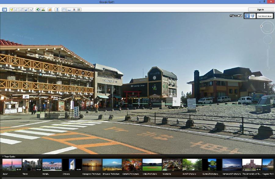 google earth street view of shops on mt fuji