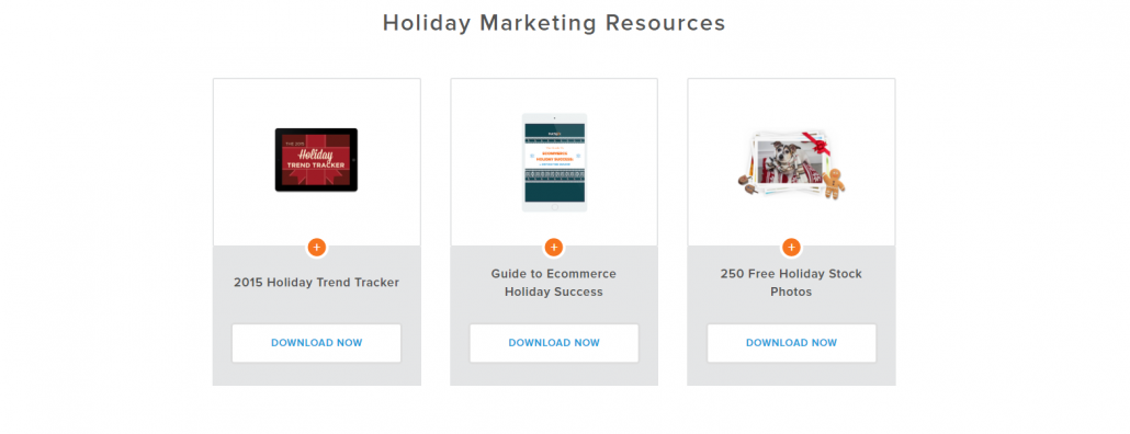 Hubspot Holiday Landing Page Downloads