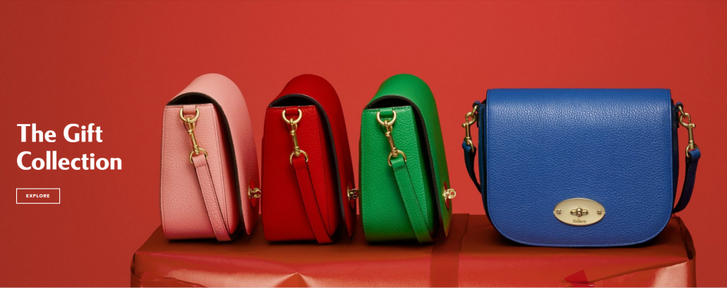 Mulberry Holiday Landing Page Purses