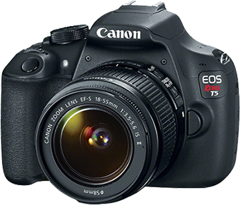 canon eos rebel camera with transparent background