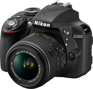 nikon d3300 camera with transparent background