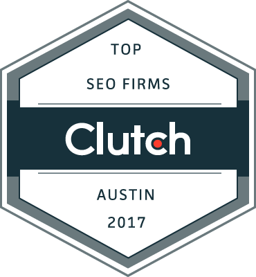 Clutch badge for Top Austin SEO Firms in 2017