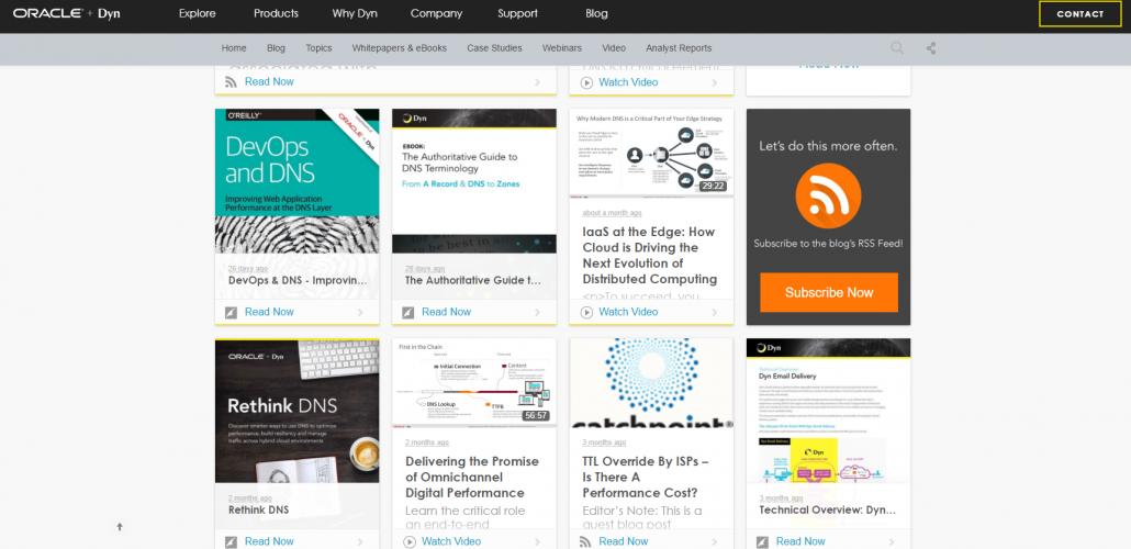 content hub on B2B website