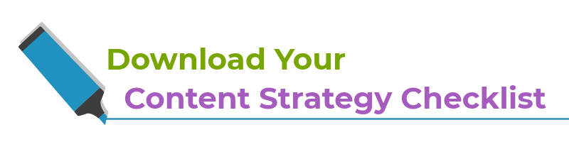 content marketing strategy checklist download button