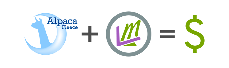 concept image of logos of companies teaming up for profit