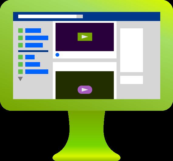 green leverage computer with facebook screenshot