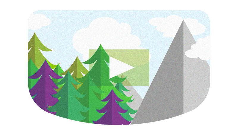hit play video with leverage colored trees