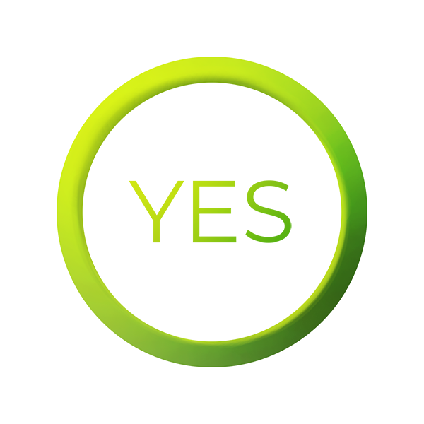 leverage colored circle with yes