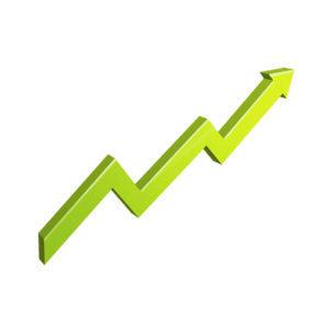 upward trending line for seo analysis