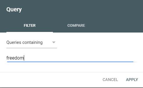 Google Search Console Brand Query