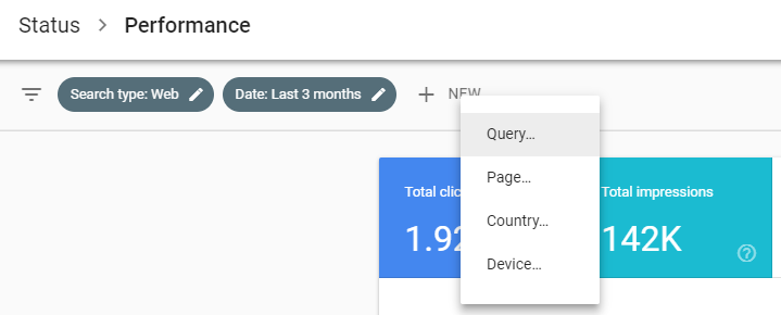 Google Search Console brand performance