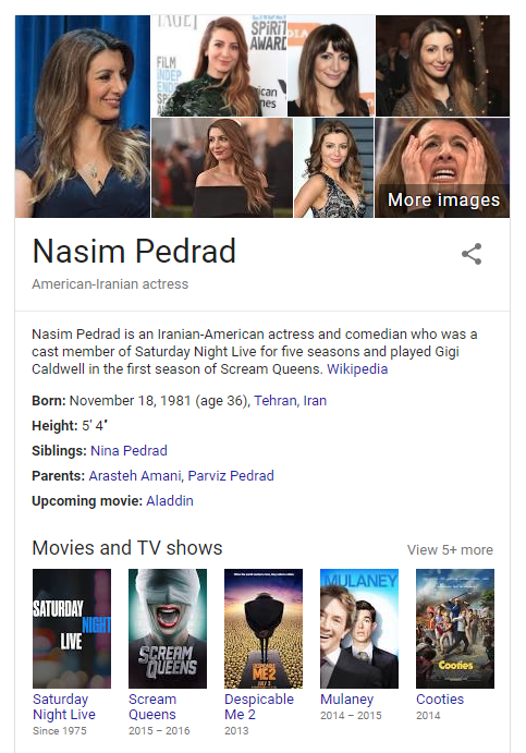 nasim pedrad celebrity profile in google