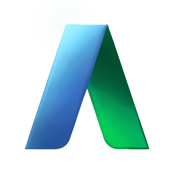 adwords a logo shaded