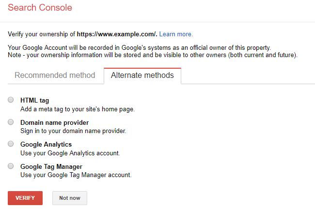 google search console step 2 tip