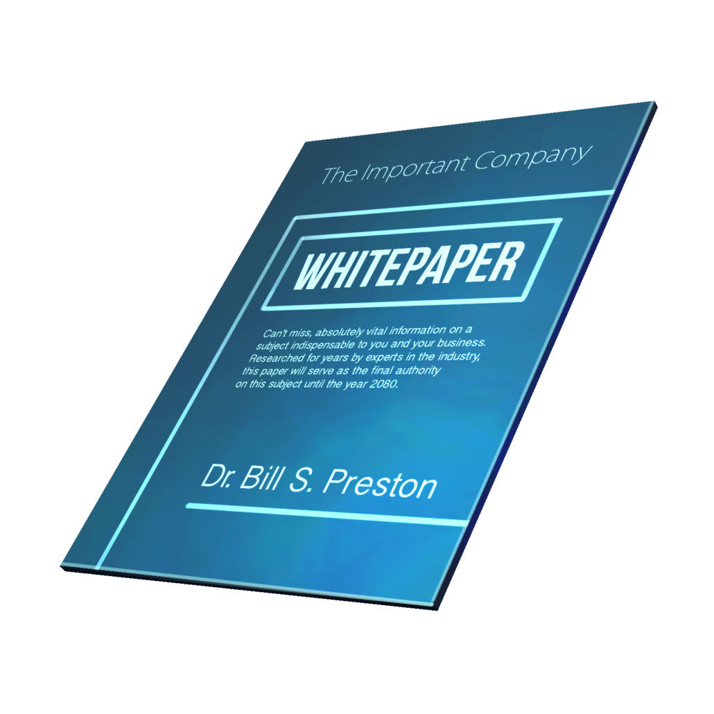 whitepaper document with generic text