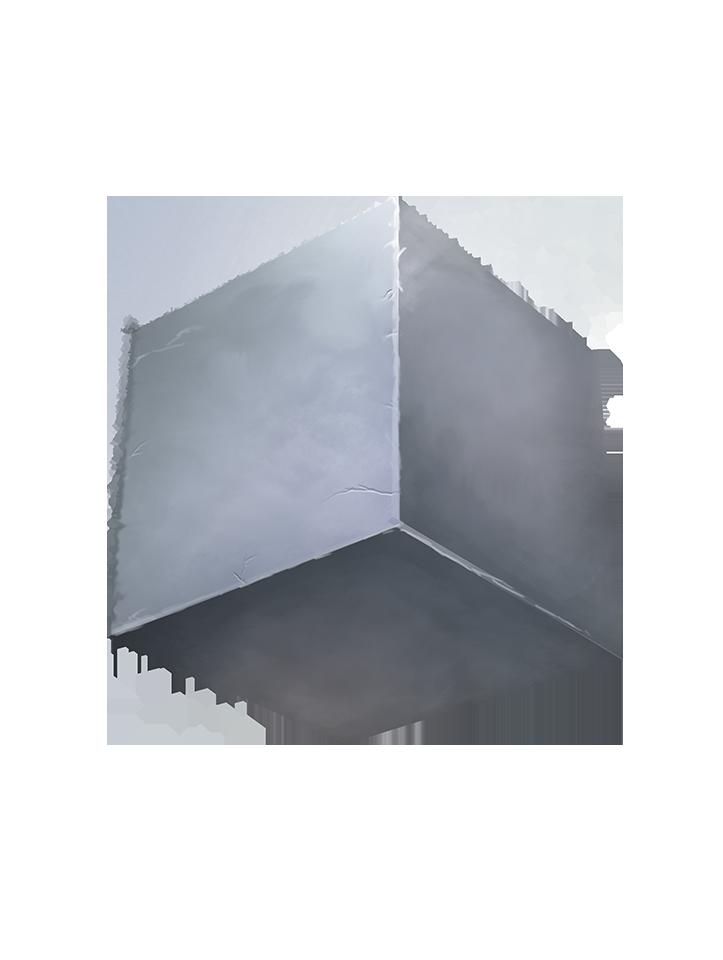 single gray cube
